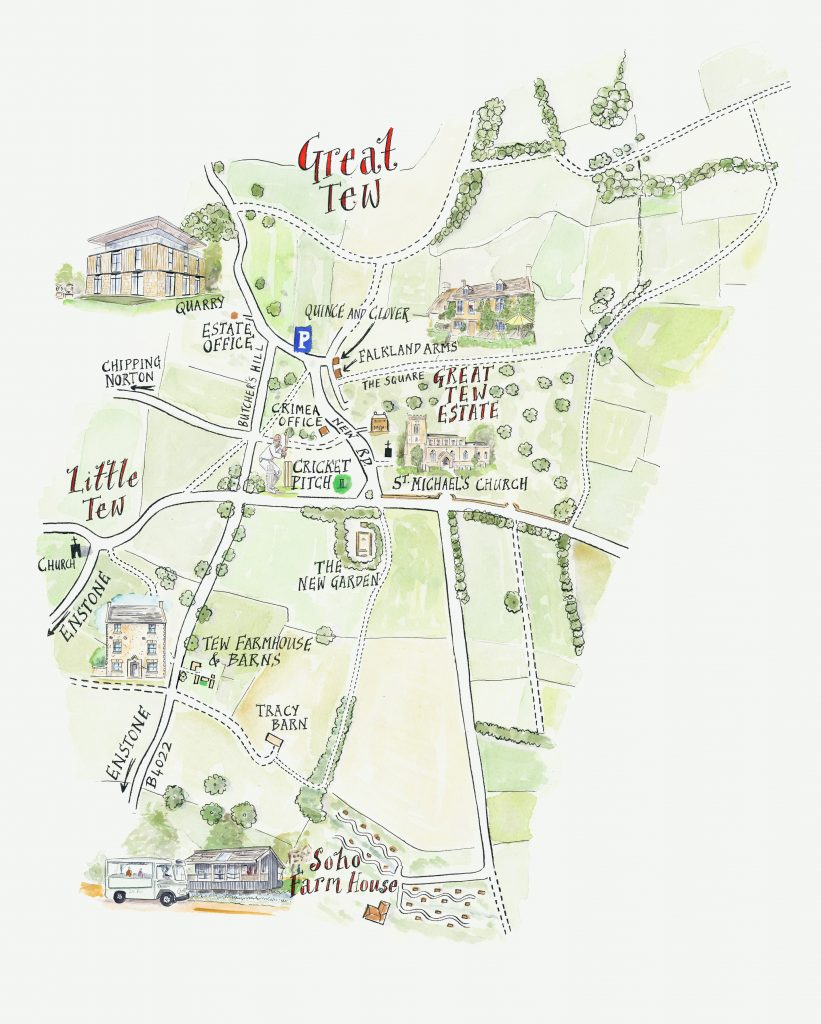 Luxury in the Cotswolds - Map